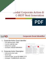 Materi Hands on C-BEST Modul Corporate Action