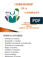 Membership of a Company Final Ppt