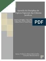 Topicos Especiais das Ciencias Juridicas