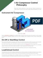 Instrument Air Compressor Control Philosophy