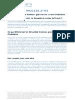 Lettre de Demande de Remise Gracieuse de La Taxe d Habitation 1475