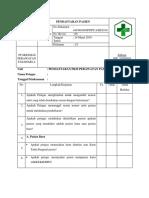 Daftar Tilik Pendaftaran Pasien