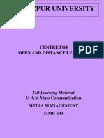 Semester 2 Download SLM for MMC 203 Media Management
