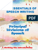Chapter4-Lesson 2essentials of Speech Writing