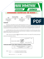Introduccion de Las Unidades Quimicas de Masa Para Tercero de Secundaria