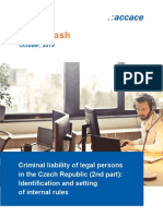 Criminal liability of legal persons in the Czech Republic – part 2