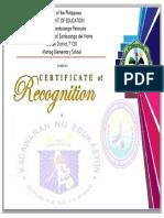Certificate Recog 2019