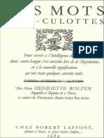 [PACK] Henriette Walter (10 ebook) [ePub]_Des mots sans-culottes - Henriette Walter.pdf