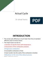 IC engine actual cycle preformance