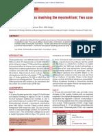 Uterine Granuloma Involving the Myometrium- Two Case Reports