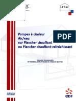 Afpac Guide Technique 2 Pompe a Chaleur Air Eau Plancher Chauffant Et Chauffant Rafraichissant