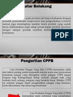 Cara Produksi Pangan Baik (CPPB)