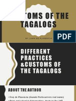 Customs of the tagalog ppt