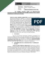 Constitucion en Actor Civil - Perlita Alina Panduro