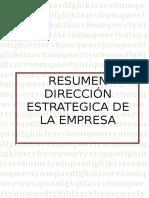 Resumen Direccion Estrategica