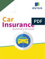 Aviva Car Summary of Cover