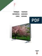 Notice TV Thomson