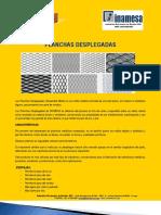 PLANCHAS DESPLEGADAS -  INAMESA