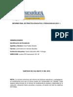 Informe de Práctica Final Praxis