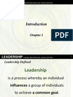Leadership Theory and Practice - Chap1 Northouse 8th ed.