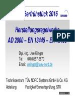 AD2000 vs EN13445