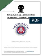 PMBA SOLDADO Mini Simulado 01 Dir. Constitucional Eu Na Polícia