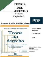 Capitulo 5 - Teoria del Derecho Rabbi Baldi 5ta Edicion