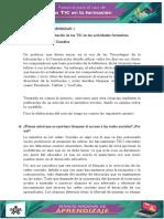 Evidencia Implementacion de Las TIC en Las Actividades Formativas