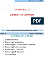 Lec 11-Simplification of CFGs