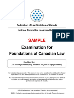 SAMPLE Exam Foundations Jan 2019