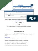 Ley General de Salud CR