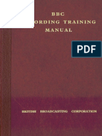 BBC Recording Training Manual