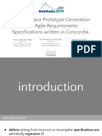 [PDF] User Interface Prototype Generation From Agile Requirements Specifications Written in Concordia - Webmedia 2019 Presentation