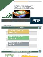 PARAMETROS ECONOMICOS Y PRODUCCION ESTIMADA | UNMSM