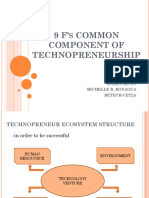 9 f's Common Component of Technopreneurship