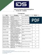 Cronograma Especialização de Sistemas Eletroenergéticos- Turma 02 - GYN