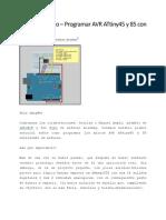 Tutorial Arduino Programar AVR ATtiny45