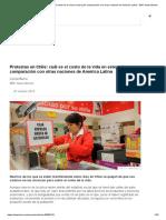 ¿Cuál es el costo de la vida en Chile en comparación con otras naciones de América Latina?