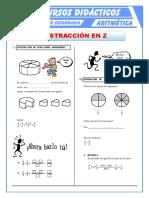 17Sustracción de Números Racionales Para Primer de Secundaria