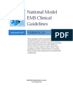 National Guidelines for EMS professionals