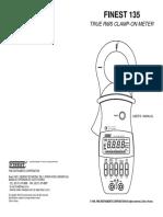 Manual pinza voltiamperimetrica finest 135