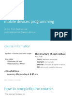 Mobile Devices Programming 2019