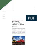Fiat lança o _esportivo_ Palio 1.8R por R$ 39.990
