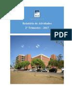 Relatorio Atividades 2º Trimestre 2017