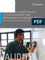 The Validity of SAT Scores in Predicting First-Year Mathematics and English Grades