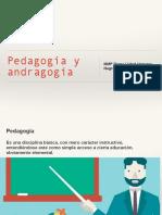 Pedagogía y Andragogía
