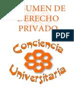 RESUMENDerecho Privado CONCIENCIA