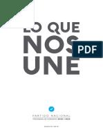 Programa de gobierno del Partido Nacional