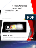 Interview With DFA Founder