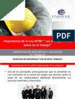 """PPT Ley 29783 """" Ley de Seguridad y Salud en El Trabajo"""""""